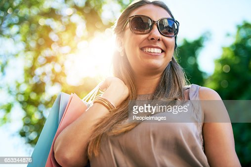 She was born to find sales : Stock Photo