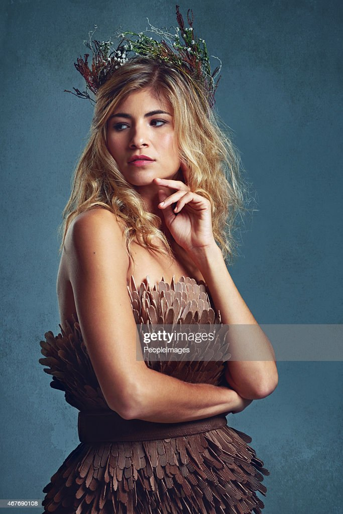 She wears the crown of beauty : Stock Photo