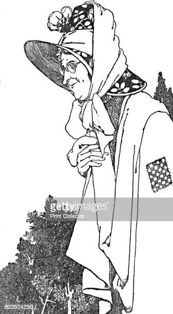 She Wore a Large Hat With Most Beautiful Flowers On It' c1930 An illustration from 'The Snow Queen' by Hans Christian Andersen From Hans Andersen's...
