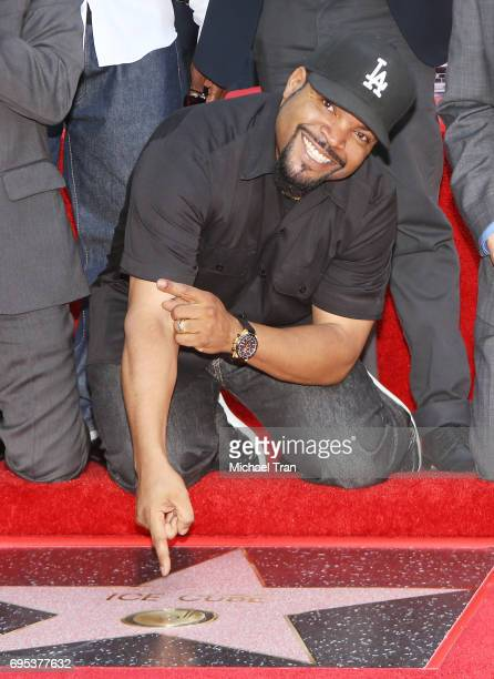 Shea Jackson Sr aka Ice Cube attend the ceremony honoring him with a Star on The Hollywood Walk of Fame held on June 12 2017 in Hollywood California