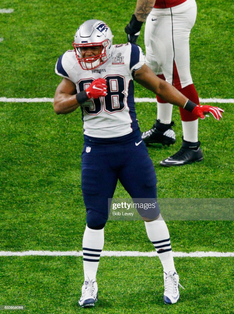 1fc73bad1da8 ... Jersey Shea McClellin 58 of the New England Patriots reacts during  Super Bowl 51 at NRG ...