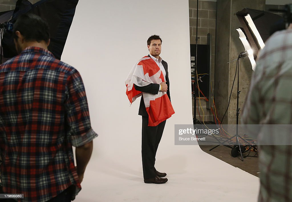 <a gi-track='captionPersonalityLinkClicked' href=/galleries/search?phrase=Shea+Weber&family=editorial&specificpeople=554412 ng-click='$event.stopPropagation()'>Shea Weber</a> of the Nashville Predators is photographed in a portrait session during the National Hockey League Player Media Tour at the Prudential Center on September 6, 2013 in Newark, New Jersey.