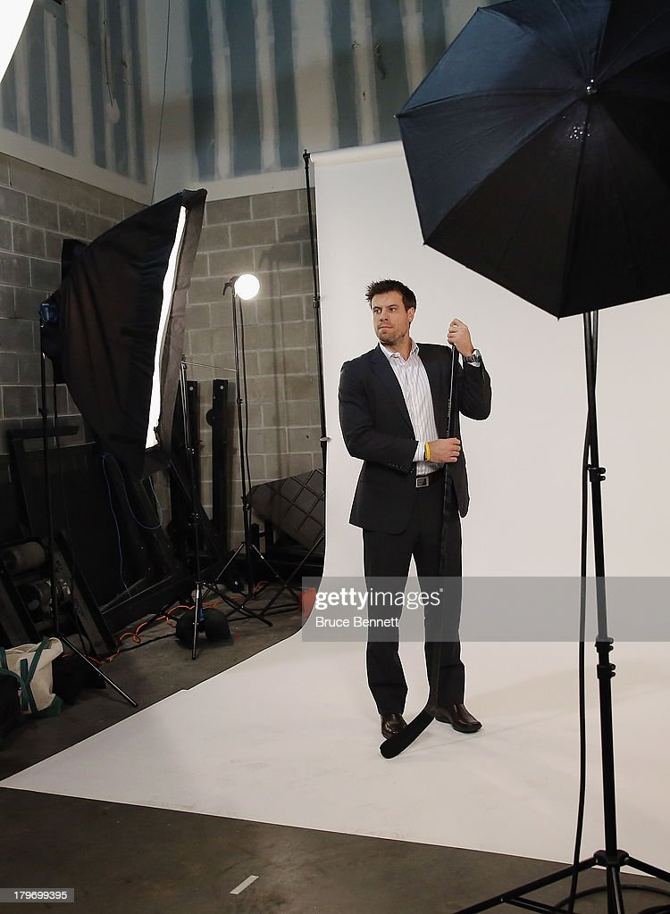 Shea Weber of the Nashville Predators is photographed in a portrait session during the National Hockey League Player Media Tour at the Prudential Center on September 6, 2013 in Newark, New Jersey.