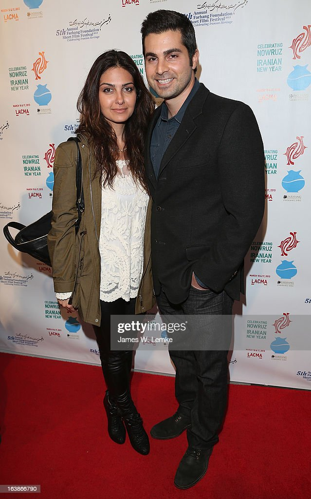 Sheba and Amir Hemmet attend the 2013 Farhang Foundation Short Film Festival held at the Bing Theatre at LACMA on March 16, 2013 in Los Angeles, California.