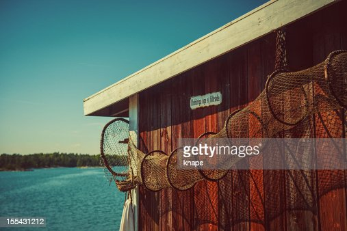 Shed by the swedish coast
