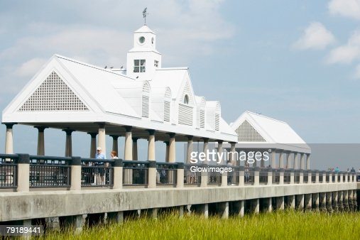 Shed in a public park, Waterfront Park, Charleston, South Carolina, USA : Stock Photo