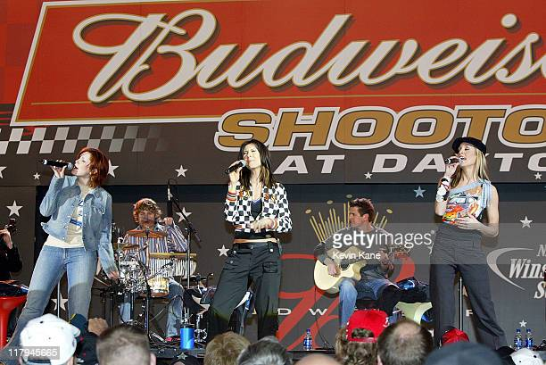 SHeDAISY performs before the start of The Budweiser Shootout at Daytona