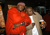 Sheek and Jadakiss during Honey New York Premiere Inside Arrivals at Chelsea West Theater in New York City New York United States