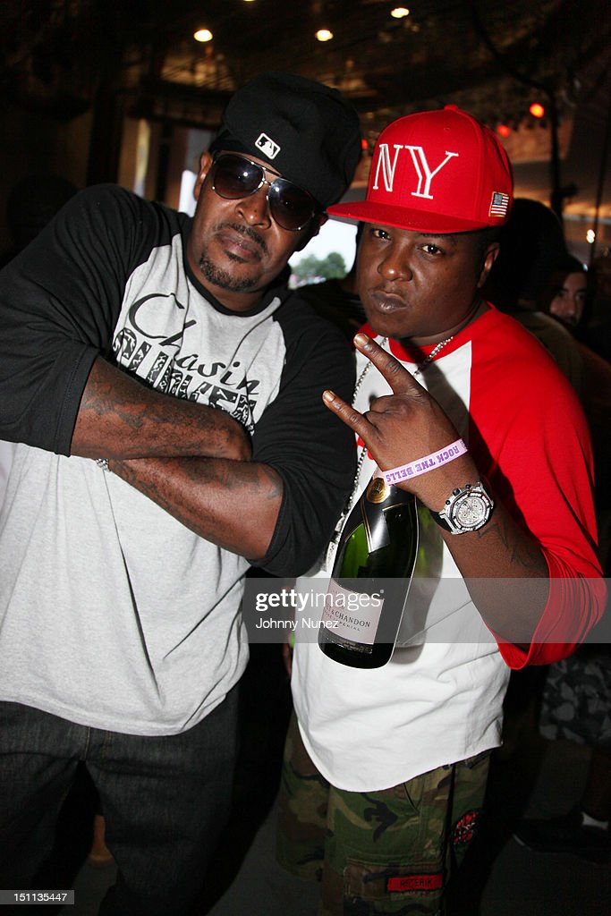 Sheek Louch and Jadakiss attend the 2012 Rock The Bells music festival at the PNC Bank Arts Center on September 1, 2012 in Holmdel, New Jersey.