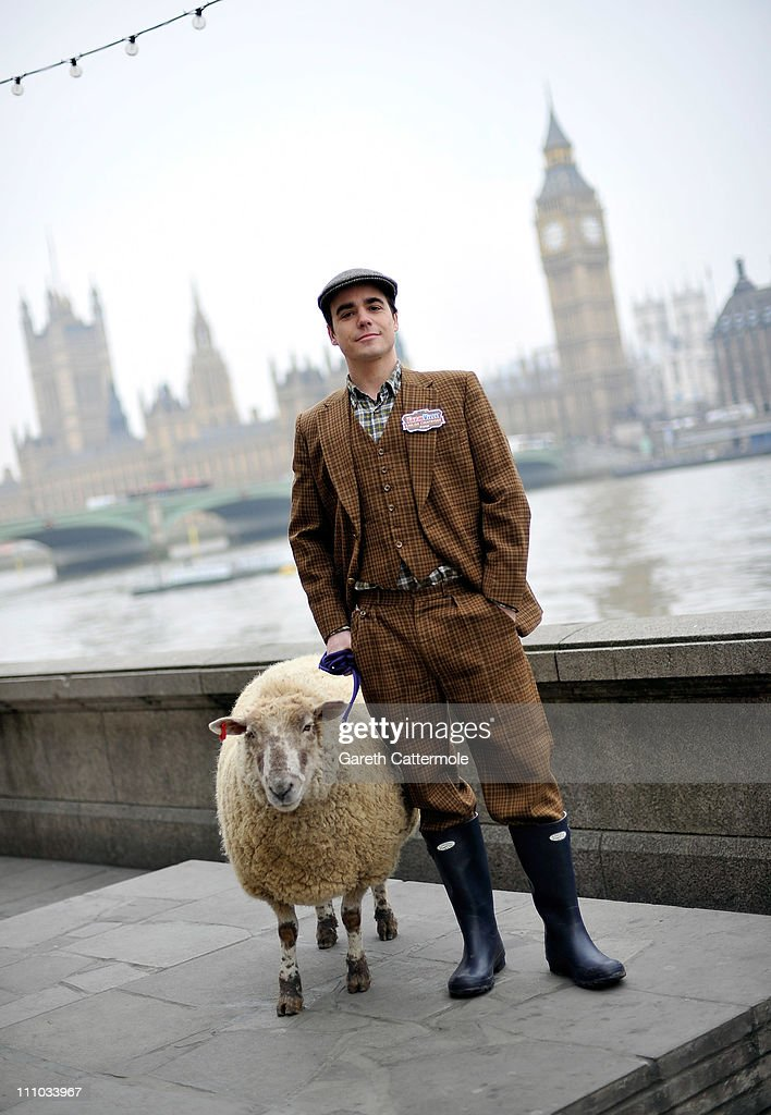 A sheep and a gentleman farmer take to the streets of London today to mark the launch the new English Countryside chapter of Farmville, Zynga's global social gaming phenomenon on March 29, 2011 in London, England. Farmville English Countryside gives players all-new crops, buildings and decorations located in the beautiful English Countryside. (Photo by Gareth Cattermole/Getty Images for Farmville)2
