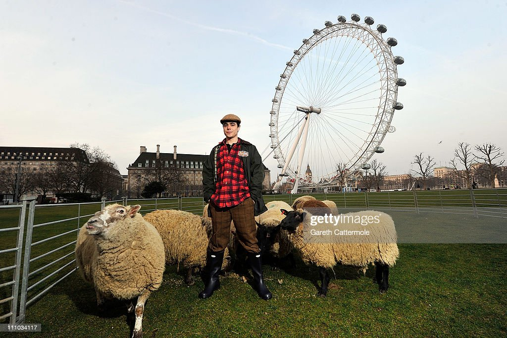 A sheep and a gentleman farmer take to the streets of London today to mark the launch the new English Countryside chapter of Farmville, Zynga's global social gaming phenomenon on March 29, 2011 in London, England. Farmville English Countryside gives players all-new crops, buildings and decorations located in the beautiful English Countryside.