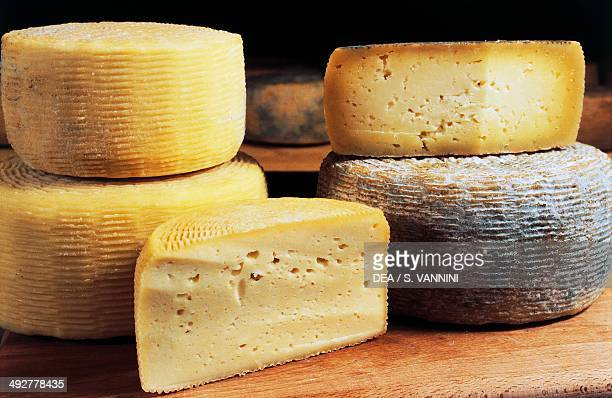 Sheep's cheese Castel del Monte Gran Sasso National Park Abruzzo Italy