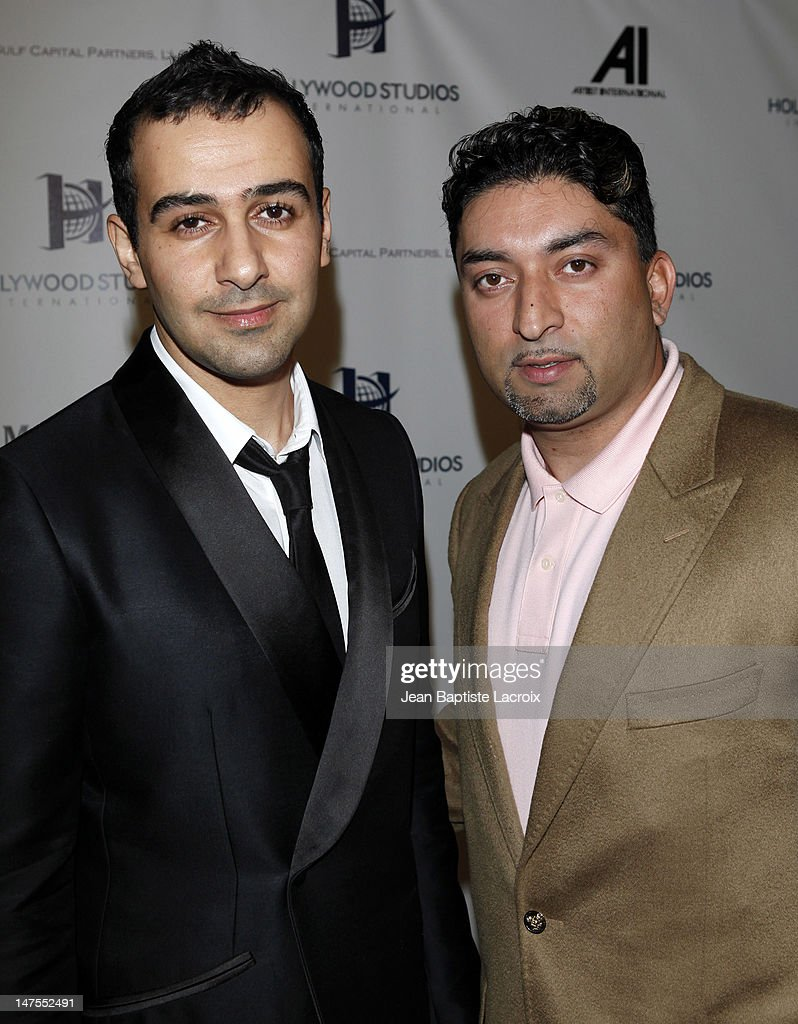 Sheeraz Hasan and Prince Faisal S. Al Saud of the Saudi Arabian Royal Family celebrate his birthday at the Sky Bar at the Mondrian Hotel on July 9, 2009 in West Hollywood, California.