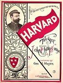 Sheet music cover image of 'Harvard TwoStep' by Geo H Hayes Boston Massachusetts 1896