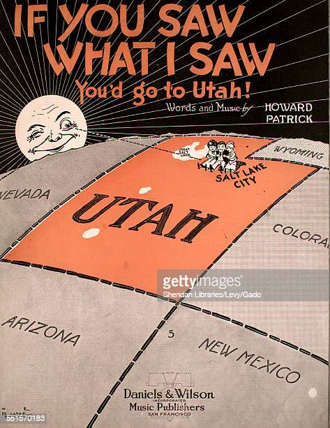 Sheet music cover image of 'If You Saw What I Saw You'd Go To Utah' by Howard Patrick with lithographic or engraving notes reading 'WR De Lappe' San...