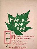 Sheet music cover image of 'Maple Leaf Rag' by Scott Joplin Saint Louis Missouri 1899