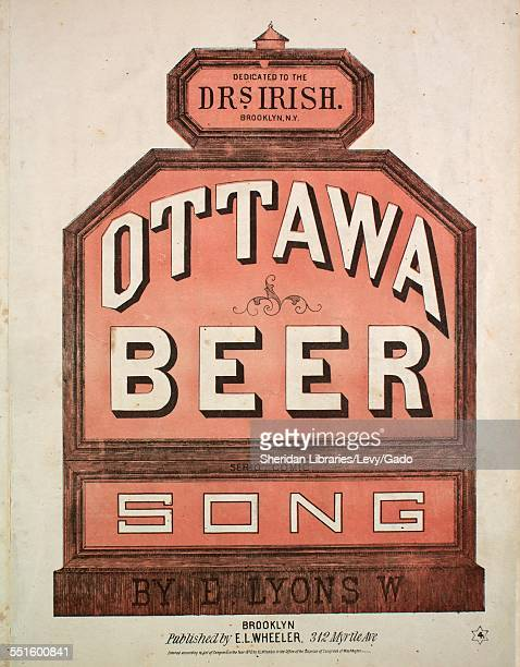 Sheet music cover image of 'Ottawa Beer Serio Comic Song' by E Lyons W Brooklyn 1870