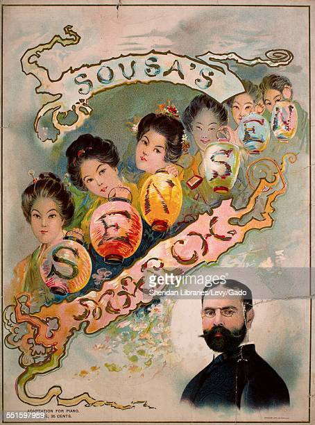 Sheet music cover image of 'Sousa's SenSen March' by John Philip Sousa 1900