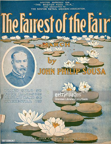 Sheet music cover image of 'The Fairest of the Fair March' by John Philip Sousa Cincinnati Ohio 1908