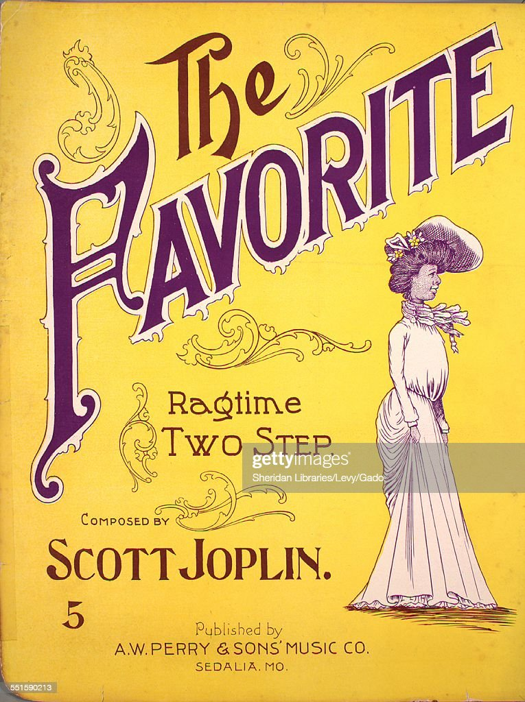 Sheet music cover image of 'The Favorite Ragtime Two Step' by Scott Joplin Sedalia Missouri 1903