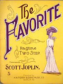 Sheet music cover image of 'The Favorite Ragtime Two Step' by Scott Joplin Sedalia Missouri 1903