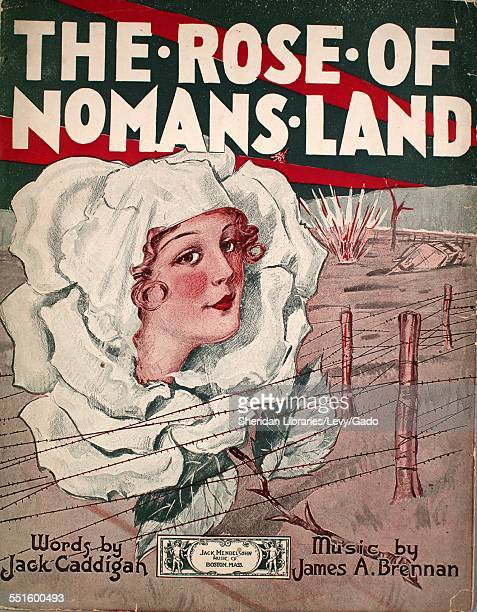 Sheet music cover image of 'The Rose of No Man's Land' by Jack Caddigan and James A Brennan Boston Massachusetts 1918