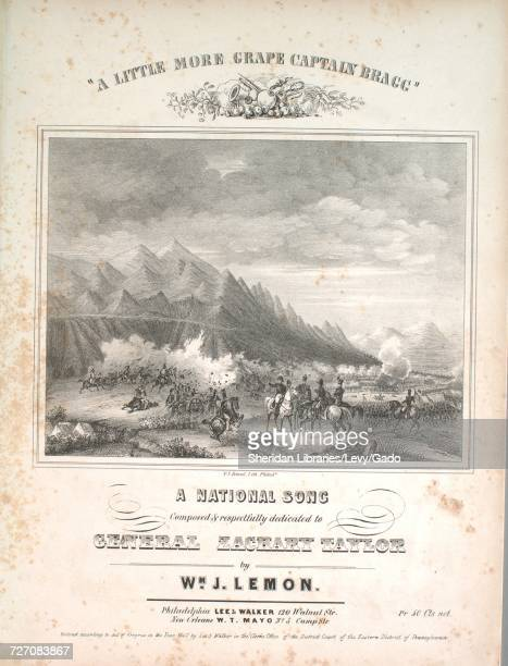 Sheet music cover image of the song ''A Little More Grape Captain Bragg' A National Song' with original authorship notes reading 'By Wm J Lemon'...