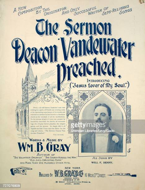 Sheet music cover image of the song 'A New Composition by the Originator and Only SUccessful Writer of SemiReligious Songs The Sermon Deacon...