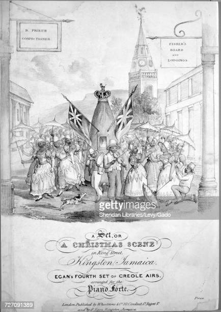Sheet music cover image of the song 'A Set or A Christmas Scene in King Street Kingston Jamaica Egan's fourth Set of Creole Airs arranged for the...