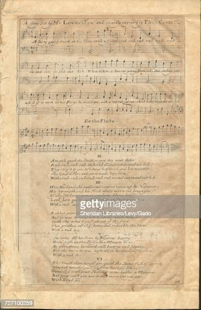Sheet music cover image of the song 'A Song ' with original authorship notes reading 'set by Mr Leveridge' 1900 The publisher is listed as 'np' the...