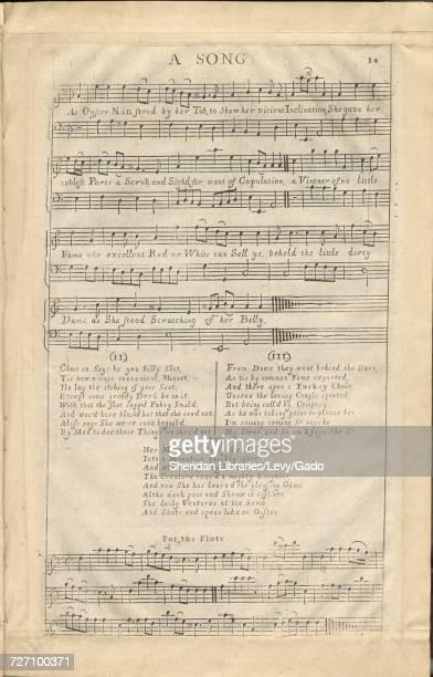 Sheet music cover image of the song 'A Song ' with original authorship notes reading 'na' 1900 The publisher is listed as 'np' the form of...