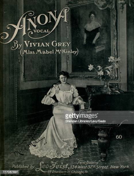 Sheet music cover image of the song 'Anona' with original authorship notes reading 'by Vivian Grey ' United States 1903 The publisher is listed as...