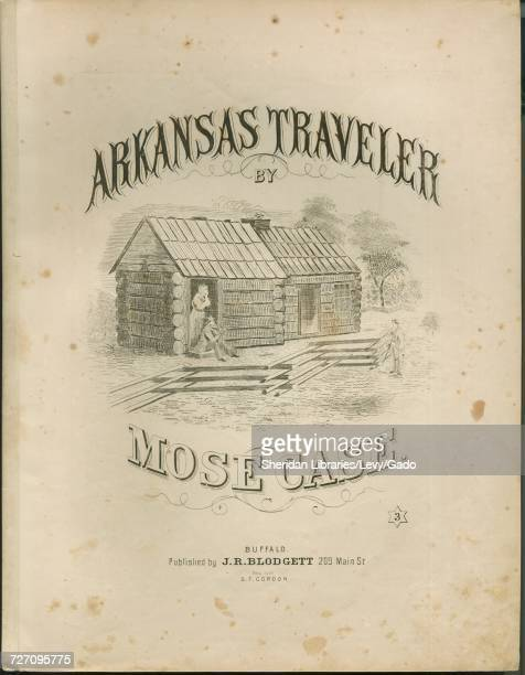 Sheet music cover image of the song 'Arkansas Traveler' with original authorship notes reading 'By Mose Case' 1900 The publisher is listed as 'JR...