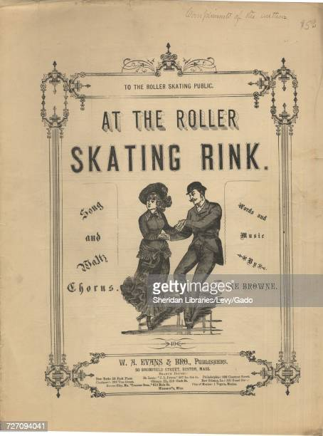 Sheet music cover image of the song 'At the Roller Skating Rink Song and Waltz Chorus' with original authorship notes reading 'Words and Music by Ike...