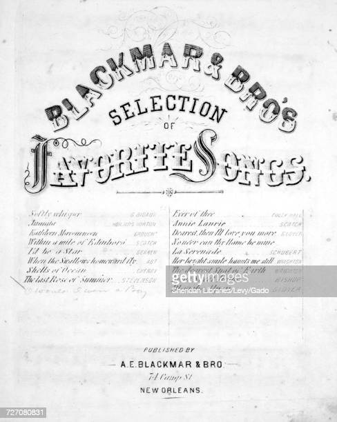 Sheet music cover image of the song 'Blackmar's Selection of Favorite Songs O Would I Were A Boy Again' with original authorship notes reading 'Words...