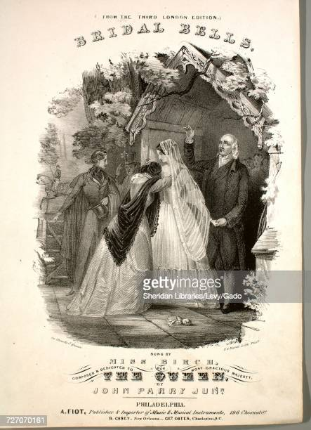 Sheet music cover image of the song 'Bridal Bells ' with original authorship notes reading 'Composed by John Parry Junr' United States 1900 The...