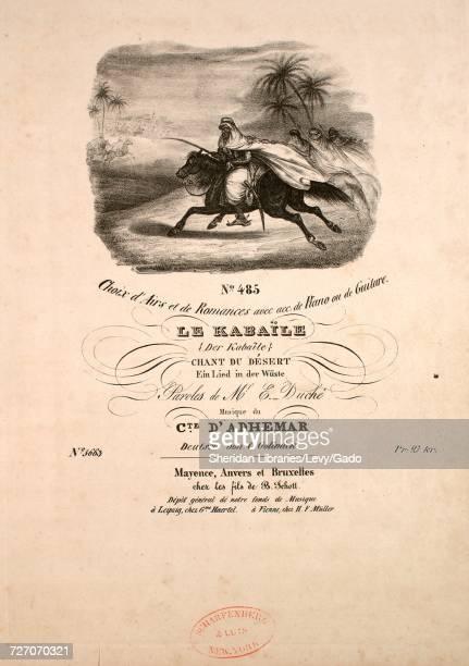 Sheet music cover image of the song 'Choix d'Airs et de Romances avec acc de Piano ou de Guitare Le Kabaile Chant du Desert Ein Lied in der Wuste'...