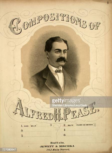 Sheet music cover image of the song 'Compositions of Alfred H Pease No 2 Waltz 'Fleurs de Fantasie'' with original authorship notes reading 'Alfred H...