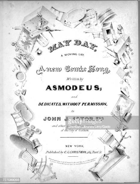 Sheet music cover image of the song 'Cover May Day A Moving Lay A New Comic Song Inside Is There a Day on the Records of the Universe' with original...