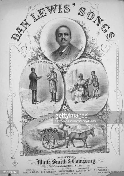 Sheet music cover image of the song 'dan Lewis' Songs ' with original authorship notes reading '' United States 1900 The publisher is listed as...