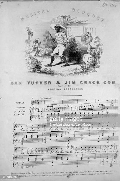 Sheet music cover image of the song ' Dan Tucker and Jim Crack Corn' with original authorship notes reading 'na' United Kingdom 1900 The publisher is...