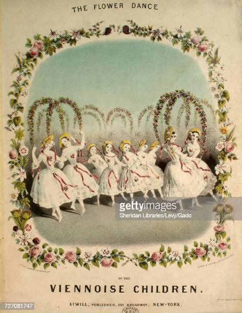 Sheet music cover image of the song 'dances of the Viennoise Children Pas Des Fleurs The Flower Dance' with original authorship notes reading...