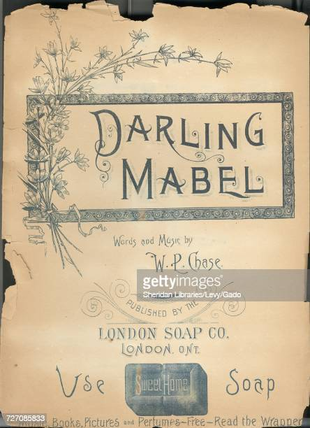 Sheet music cover image of the song 'darling Mabel' with original authorship notes reading 'Words and Music by WL Chase' United Kingdom 1900 The...
