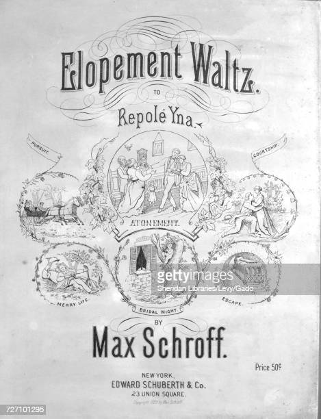 Sheet music cover image of the song 'Elopement Waltz to Repole Yna Introduction Escape Bridal Night Merry Life Pursuit Finale ' with original...