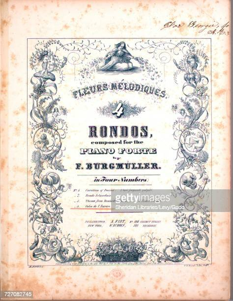 Sheet music cover image of the song 'Fleurs Melodiques Rondos No 4 Valse de l'Aurore' with original authorship notes reading 'Composed for the Piano...