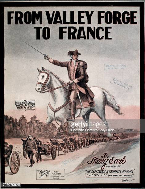 Sheet music cover image of the song 'From Valley Forge To France' with original authorship notes reading 'By Mary Earl' United States 1918 The...