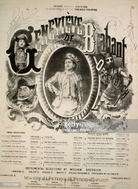 Sheet music cover image of the song 'Genevieve de Brabant Peter's Correct Edition To Watch the City's Peace and Safety Proteger le Repos Des Villes...