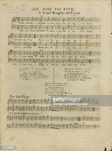 Sheet music cover image of the song 'God Save the King A Loyal Song for two Voices' with original authorship notes reading 'na' 1900 The publisher is...