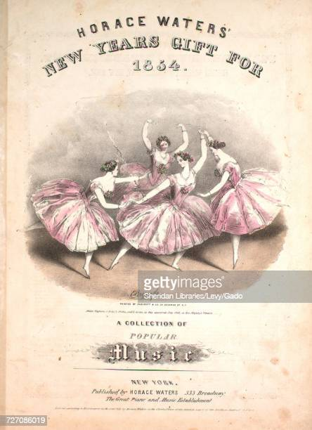Sheet music cover image of the song 'Horace Waters' New Years Gift For 1854 A Collection of Popular Music The Gift Schottisch' with original...