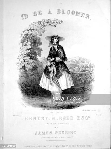 Sheet music cover image of the song 'I'd Be A Bloomer' with original authorship notes reading 'Written By Ernest H Reed Esqr The Music Composed By...